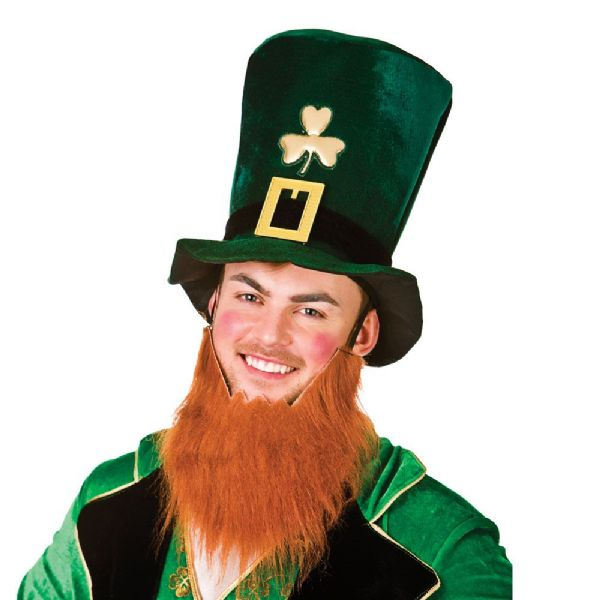 Leprechaun Hat with Beard Outfit Accessory for St Patricks Fancy Dress